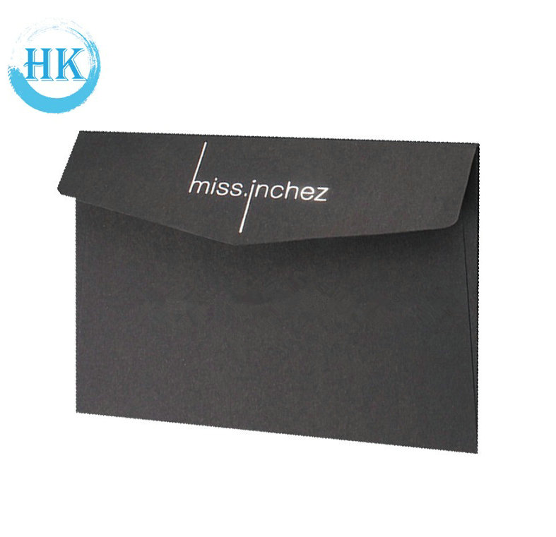 Gold Foiling Black Envelope